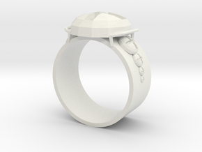 Working Ring in White Natural Versatile Plastic