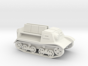Komsomoletz Armored Tractor 1/87 (HO) scale in White Natural Versatile Plastic