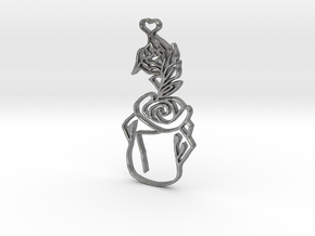 Fairy Tale Pendant in Natural Silver