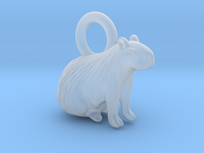 1-1/2 inch Capybara Pendant in Smooth Fine Detail Plastic