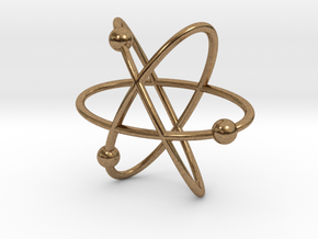 Atom Pendant in Natural Brass