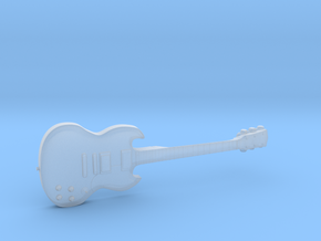 Gibson SG Guitar 1:18 in Smooth Fine Detail Plastic