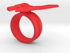 GG Rage Ring Sz 9 in Red Processed Versatile Plastic