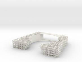 Bow Internal Framing V0.13 in White Natural Versatile Plastic