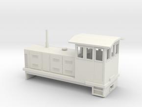 """HOn30 Endcab Locomotive (""""Elke"""") V2 in White Strong & Flexible"""