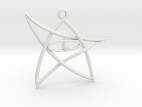ElderSign Pendant in White Natural Versatile Plastic