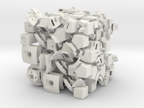 Uranus DoDep 3x3x3 in White Natural Versatile Plastic