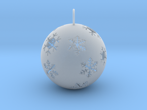 Christmas Bauble 1 in Smooth Fine Detail Plastic