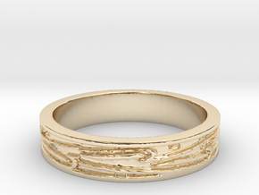 Ring of Love Boarders Ring Size 7.5 in 14K Yellow Gold