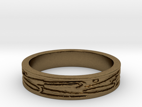 Ring of Love Boarders Ring Size 7.5 in Natural Bronze