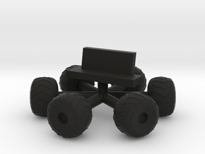 Space 1999 Moonbuggy Wheels and Seats Dinky Scaled in Black Natural Versatile Plastic
