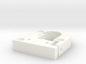 Kossel Mini Prime-Line Carriage-allow-more-compres in White Processed Versatile Plastic