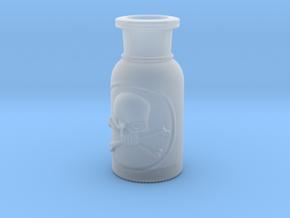 Skull and Crossbones Poison Bottle  in Smooth Fine Detail Plastic