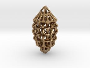 Memory Web Pendant in Natural Brass