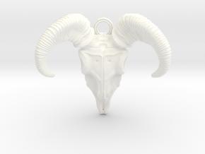 Ram Skull in White Processed Versatile Plastic