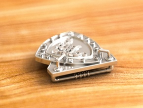 Steam Punk Buckle 35 mm in Polished Silver