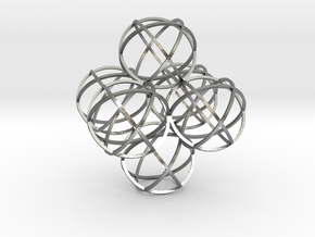 Packed Spheres Octahedron in Natural Silver