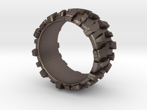 Mud Tire Man Ring in Stainless Steel: 5.5 / 50.25