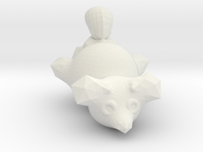 Brush Tailed Posum in White Natural Versatile Plastic