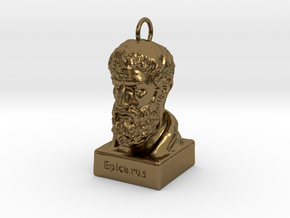 Epicurus Keychains 2 inches tall in Polished Bronze