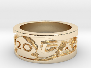 20 Year Anniversary War Eagle Ring (Size 6.5) in 14K Yellow Gold