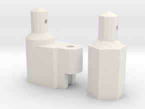 Yokomo (870C/YZ-10) Battery Mounts in White Natural Versatile Plastic