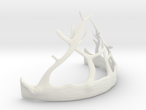 Renly Baratheon Crown Part 2 of 2 in White Natural Versatile Plastic