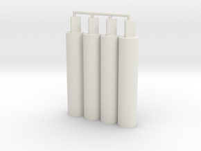 4x Thick Pegs 2.0 in White Natural Versatile Plastic