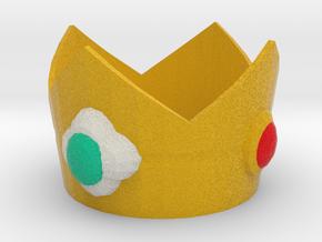 Princess Daisy cosplay mini crown in Full Color Sandstone