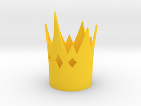 Hopper Croakington cosplay crown EAH in Yellow Processed Versatile Plastic