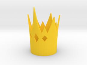 Hopper Croakington cosplay crown EAH in Yellow Processed Versatile Plastic