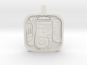 Ganesh Charm in White Natural Versatile Plastic