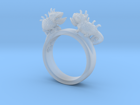 Twin Chameleon Ring in Smooth Fine Detail Plastic