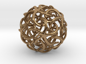 Starfish's Ball in Natural Brass