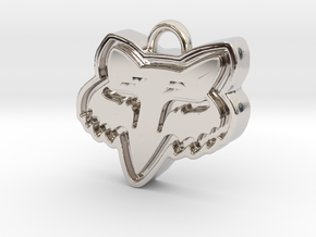 Charming Fox Racing Logo in Platinum