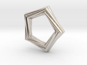 Pentagonal Pendant or Ring in Platinum