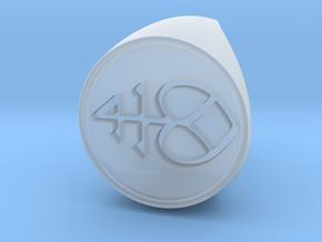 Custom Signet Ring 2 in Smooth Fine Detail Plastic