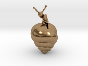 Snail Pendant in Natural Brass