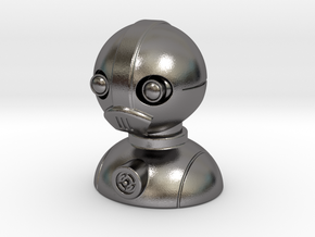 'Robust' robot bust design, model M7-001 in Polished Nickel Steel