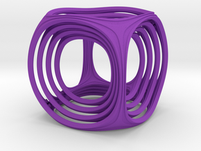 Gyro the Cube in Purple Strong & Flexible Polished