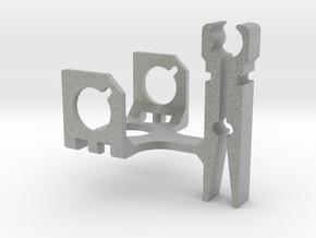 ZenClip - DJI Phantom 1 - Zenmuse H3-2D in Metallic Plastic