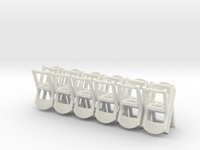 Folding Chairs HO Scale X12 in White Strong & Flexible
