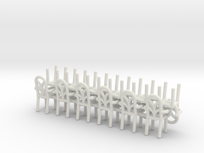 Cafe  Chair style 2 With Arms HO Scale X12 in White Natural Versatile Plastic
