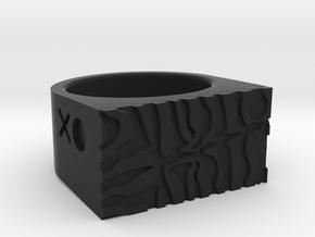 Tiger Ring in Black Natural Versatile Plastic