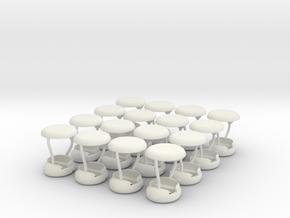 Gondelsatz Calypso für1:87 (H0 scale) in White Natural Versatile Plastic