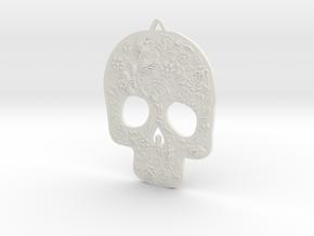 Skully Earrings in White Natural Versatile Plastic