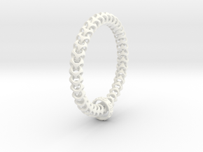 Cubichain Bracelet (Multiple sizes) in White Strong & Flexible Polished