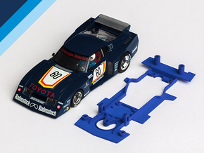 1/32 MRRC Toyota Celica Chassis for slot.it pod in Blue Strong & Flexible Polished