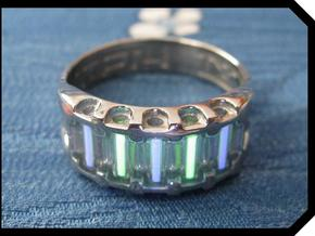 US11.5 Ring IX: Tritium in 14k White Gold