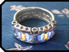 US14 Ring VI: Tritium in Polished Silver